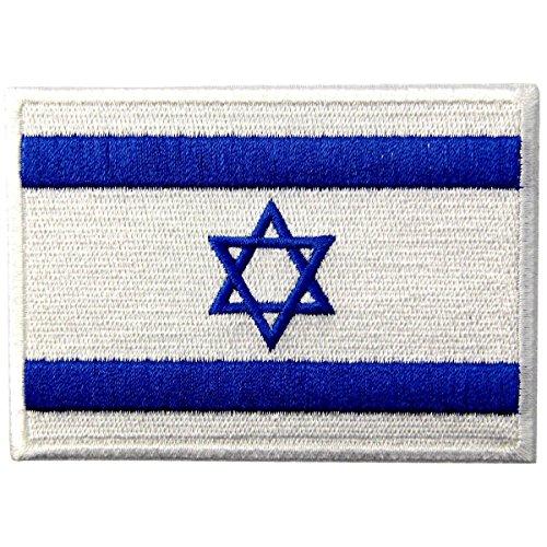 Israel Flagge Fahne gestickte National Emblem jüdische Star of David Eisen auf Sew auf Patch