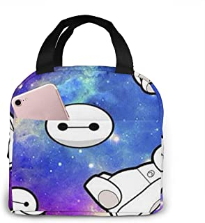 Lunch Bag Galaxy Baymax Insulated Lunch Box For Men & Women Meal Prep Lunch Tote Bag