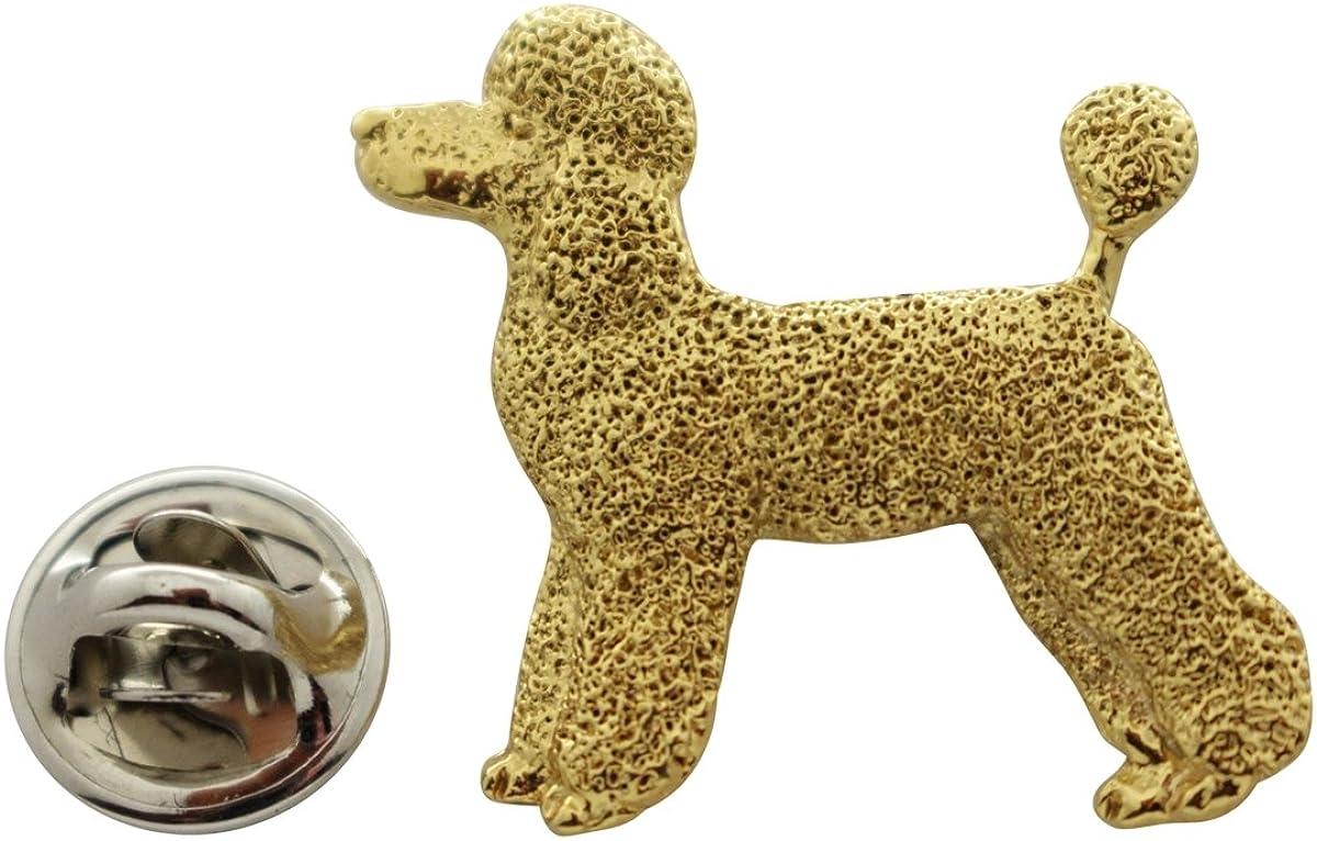 Sarah's Treats & Treasures Poodle Puppy Clip Pin ~ 24K Gold ~ Lapel Pin