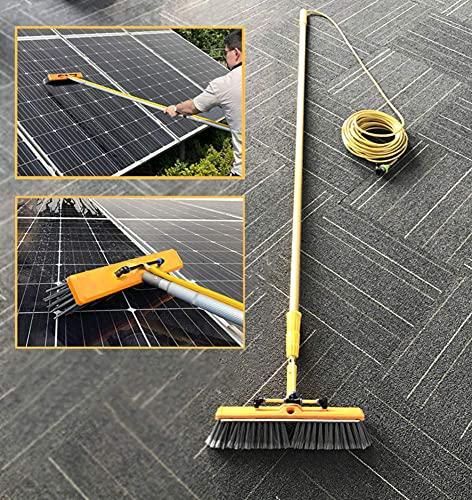 SFSGH Poste de Limpieza de Ventanas, Herramienta de Limpieza de Paneles fotovoltaicos, Cepillo de pulverización de Agua Multiusos, Limpiador Extensible para Lavado de Ventanas de camione
