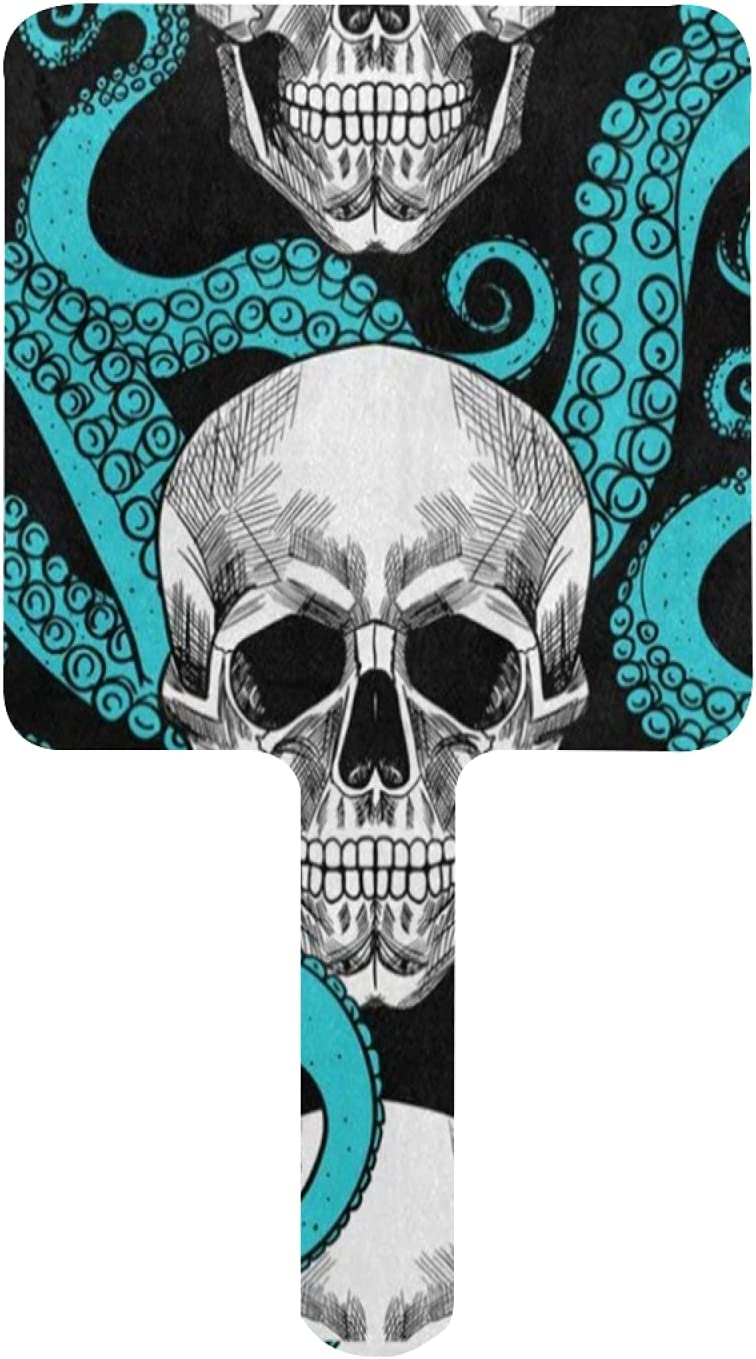 Hand Mirror Turquoise Blue Octopus Kraken online Super beauty product restock quality top! shopping Sugar Skull Small