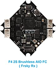 BETAFPV 2S F4 FC AIO Brushless Flight Controller SPI Frsky Receiver ESC OSD Smart Audio with JST-PH2.0 Cable for 2S Brushless FPV Whoop Drone Beta75 Pro2 Beta65 Pro2 Beta75X Beta65X
