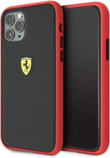 ferrari On Track PC/TPU Case for iPhone 11 Pro Max - Red Outline/Black