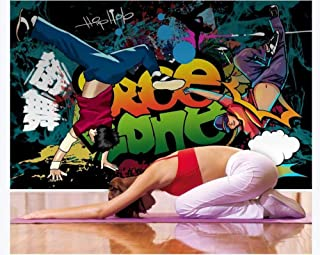 Osobowość graffiti dym taniec uliczny angielski oprzyrządowanie tło ściana - 150 cm x 105 cm