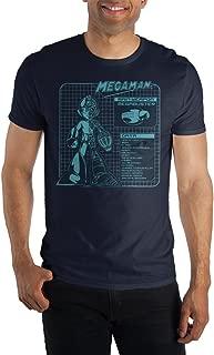 Capcom MegaMan Stylish Digital Graphic Print Men's Navy Blue T-shirt