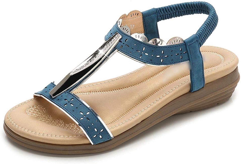 WENNEW Bohemian Vapid Sandals Rhinestone I-shaped Fashion Women's shoes