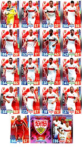 Match Attax Bundesliga 2015 2016 - Karten-Set VfB Stuttgart Cap Offensiv-Trio Teamlogo - Deutsch