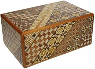 Yosegi Japanese Puzzle Box 5 sun - 27 steps