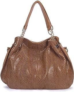 Genuine Leather Tote Shoulder Bag for Women,Ladies Purses Bag, Handbags Female Hobos Shoulder Crossbody Bags (Color : Brown)