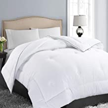 Soft Quilted Down Alternative Comforter Hotel Collection Reversible Duvet Insert with Corner Tabs,Warm Fluffy Hypoallergenic for All Season King(90x102 Inch) White