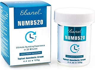 Ebanel 5% Lidocaine Topical Numbing Cream for Painkilling, 4.4oz Max Strength Pain Relief Cream Ointment Anesthetic Gel with Liposomal for Sections, Hemorrhoid, Local and Anorectal Discomfort