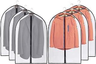 JSF Housses de Vêtements, Lot de 6 Couverture de Costume Anti-Poussière avec Zip et Housses de Protection pour Chemise/Cos...