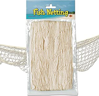 Beistle 50301-N Fish Netting, Natural Color, 4' x 12'