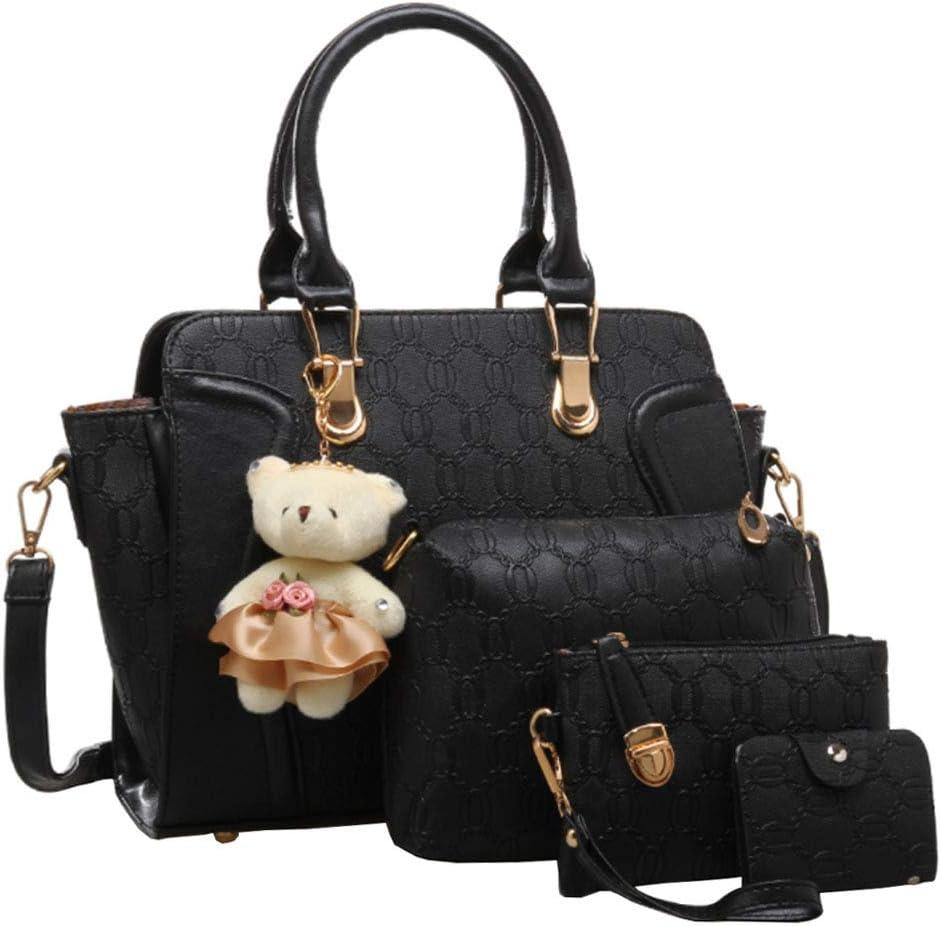 FiveloveTwo Women Ladies 4Pcs Handbag Many popular brands Satchel Tote Popular product Shoulder Set