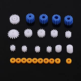 26 Pcs Plastic Spindle Worm Gear & Sleeve 2MM/2.3MM/3MM/3.17MM/4MM for Aircraft Car Model