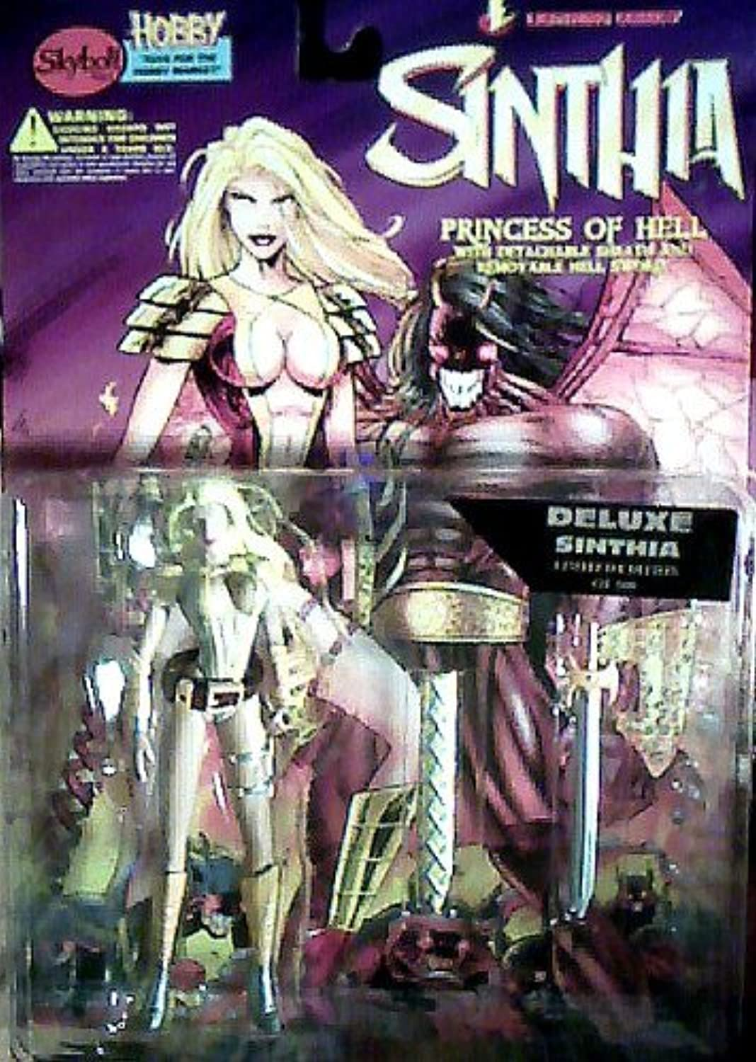 6 Deluxe Sinthia Limited Edition of 500 Action Figure - Lightning Comics' Sinthia, Princess of Hell Series by Skybolt Toyz