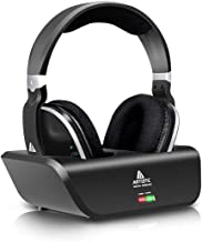 ARTISTE ADH300 Wireless Headphones for TV with RF Transmitter for Netflix Hulu Watching..