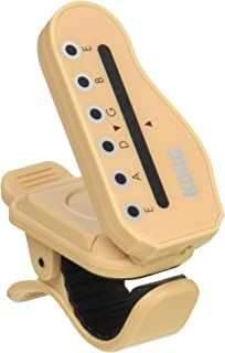 KORG KO-HTG1 HT-G1 HeadTune Clip-On Guitar Headstock-Shaped Tuner with Tuning Peg Indication
