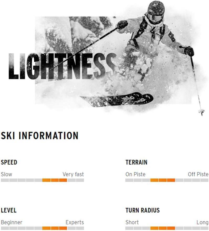 HEAD Unisex Kore 93 Graphene Lightweight Freeride Skis Bindings Not Included