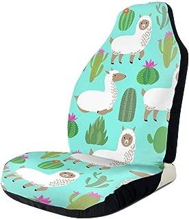 Car Seat Covers Alpaca Cute Llama Baby And Cactus Elastic Bucket Seat Cover Universal Fit Most Car/Truck/Suv,