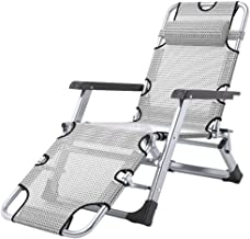 High-quality recliner Sun Lounger Sun Loungers Recliners, Zero Gravity Patio Deck Chair Supports 200kg Reclining Garden Outdoor Folding Portable Chair (Color : Gray)
