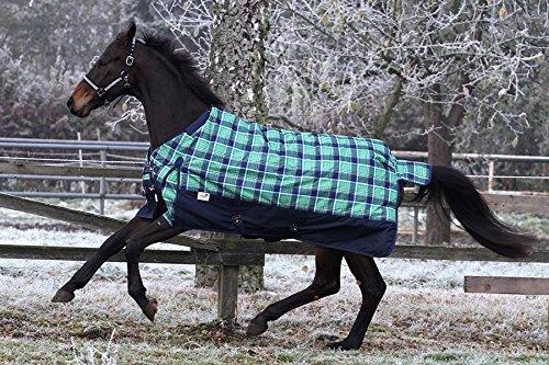 1200 Denier Outdoordecke Thermodecke 200 Gramm + Fleece Lining Grün Karo Tysons Winterdecke Regendecke 145 155 165 (mit Halsteil, 165)