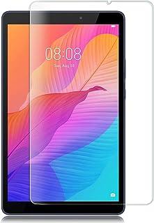 TRkin Huawei MatePad T8 専用強化ガラスフィルム Huawei MatePad T8 液晶保護フィルム 気泡ゼロ 99%高透過率 硬度9H 指紋防止 飛散防止 耐衝撃 超薄0.3mm 2.5D ラウンドエッジ加工 (Huawei MatePad T8)