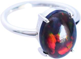 Ravishing Impressions Jewellery Anillo de plata de ley maciza 925 de piedra ópalo, joyería de diseño FSJ-4997