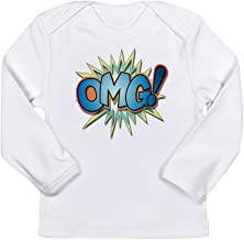 Truly Teague Long Sleeve Infant T-Shirt Text Abbreviation OMG! - Cloud White, 18 To 24 Months