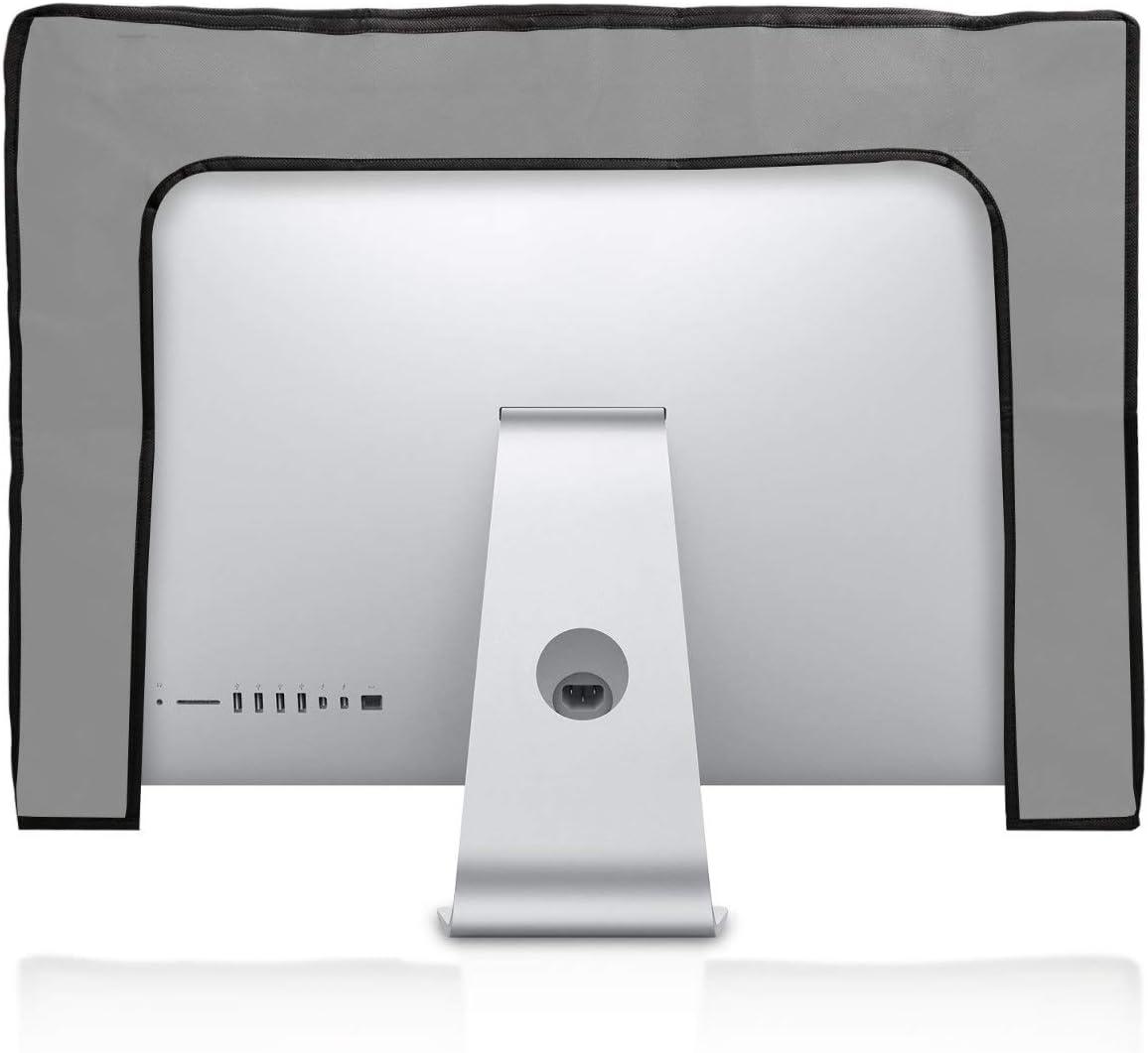 PC Bildschirm Schutzh/ülle kwmobile H/ülle kompatibel mit 27-28 Monitor Computer Cover Case Travel Flugzeug Wei/ß Schwarz