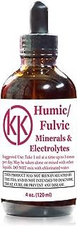 Premium Organic Fulvic Humic Mineral Electrolytes Liquid Concentrate 4oz - Breakthrough Keto Flu & Cramp Relief - NO Maltodextrin NO Sugar NO Calories 120 Servings KetoKerri