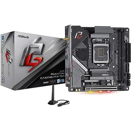 ASRock マザーボード Z490 Phantom Gaming-ITX/TB3 Intel 10世代 CPU (LGA1200) 対応 Z490 Mini-ITX 【国内正規代理店品】