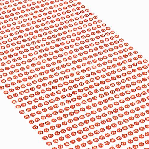 Movoja Rote Strasssteine - runde Glitzersteine 1200 Stück 3 mm selbstklebend zum Verzieren und Basteln | Schmucksteine zum aufkleben | Steinchen Dekosteine Bastelsteine Rot