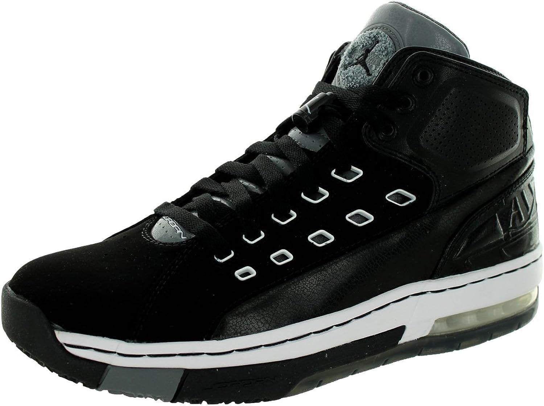 Nike Jordan Mens Jordan OlSchool Black White Cool Grey Basketball shoes 9.5 Men US