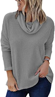 Womens Pullovers High Neck Oversized Knitwear Army Sweaters