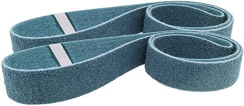 "1//2/"" x 24/"" Surface Conditioning Non Woven Sanding Belts Maroon Medium 10 pcs"