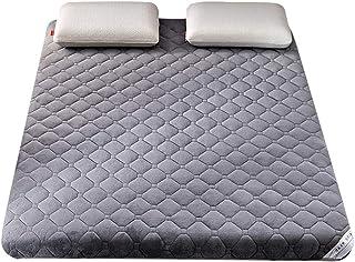 Colchón de futón Cojín de colchón de franela suave de 6 cm de grosor, tapete de tatami japonés para dormitorio de estudiantes, colchón plegable para todas las estaciones, acogedor, cálido, transpira