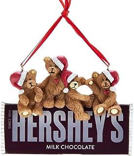 Kurt Adler Hershey's Bears On Hershey Chocolate Bar Ornament
