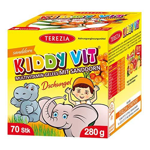 TEREZIA Multivitamine Dschungel Gelee-Drops/Gummibärchen für Kinder, enthaltet Sanddorn und 9 verschiedene Vitamine. Ohne jegliche chemische Zusatzstoffe, Konservierungsmittel und Farbstoffe …