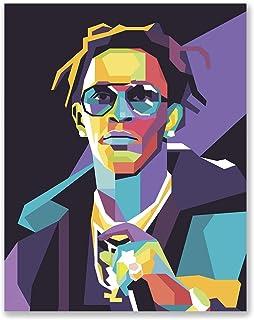 PGbureau Young Thug Poster - Geometric Vector Art - Bedroom Wall Illustration - Birthday Present for Friend (11x14)