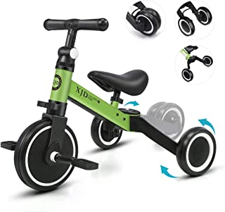 XJD 3 in 1 Kids Tricycles for 10 Month-3 Years Old Kids Trike 3 Wheel Toddler Bike Boys Girls Trikes for Toddler Tricycles Baby Bike Infant Trike Upgrade 2.0