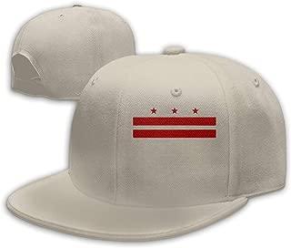 Flat Brim Baseball Cap for Womens Flag of Washington D.C. Casual Outdoor Cap