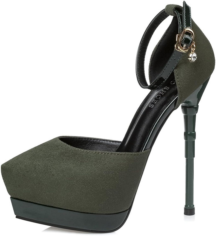 Bon Soir Women's D'Orsay Closed Toe Crisscross Ankle Strap Stiletto High Heel Pump