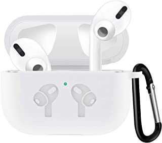 Case Compatible with Airpods PRO case,Front LED Visible with Anti-Lost Carabiner Protective Thicken Cover Soft Silicone Ch...