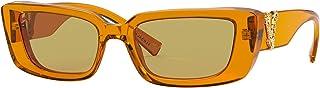 Versace - VE4382 Transparent Orange Irregular Women Sunglasses - 52mm