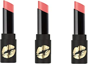 bareMinerals Mini Statement Luxe-Shine Lipstick TEASE - Set of 3 (.04 oz each) & Make-Up Bag