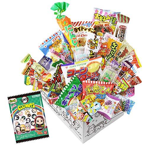 【カエルショップ オリジナル】駄菓子詰め合わせお楽しみ38点セット+鬼滅の刃クーナッツ必ず入っています! 誕生日、イベントやパーティーにもどうぞ。