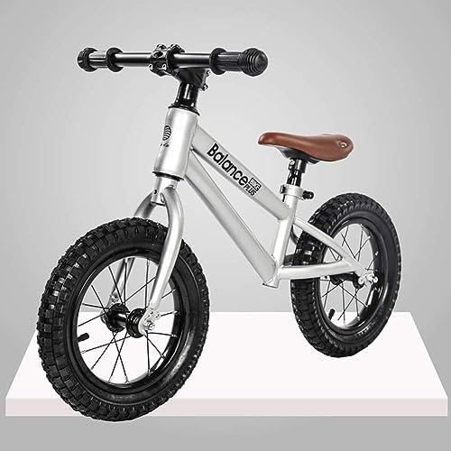 DDCX 12-Zoll-Kinder-Waage ohne Pedalroller yo-yo Walker Baby ZWeißad-Fahrrad,Silber