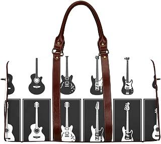 Bolsa de Viaje Bolsa de Viaje Hermosa Guitarra Varias Guitarras vectoriales Bolso Weekender a Prueba de