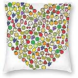 Eliuji Kissenbezug, Kissenbezug und Sofakissenbezug, Bettwäsche, weich und bequem, 45x45cm, The Love of Fruit